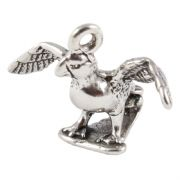 Puffin 3D Sterling Silver Charm